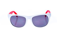 Γυαλιά ηλίου παιδιών χρώματος, σκιές ήλιων ή θεάματα που απομονώνονται επάνω Στοκ Φωτογραφία
