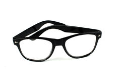 Γυαλιά η ανασκόπηση απομόνωσε το λευκό κλείστε επάνω Στοκ φωτογραφία με δικαίωμα ελεύθερης χρήσης