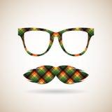 Γυαλιά και mustache Στοκ Εικόνες
