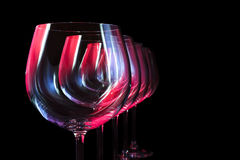 Γυαλιά κρασιού κόμματος Στοκ φωτογραφία με δικαίωμα ελεύθερης χρήσης