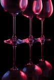 Γυαλιά κρασιού νυχτερινών κέντρων διασκέδασης Στοκ Εικόνες