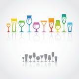 Γυαλιά κρασιού Στοκ εικόνες με δικαίωμα ελεύθερης χρήσης
