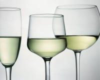 Γυαλιά με την άσπρη άμπελο Στοκ εικόνα με δικαίωμα ελεύθερης χρήσης