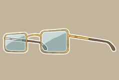 Γυαλιά με την άσπρη περίληψη. Χέρι που σύρεται διανυσματικό Στοκ εικόνες με δικαίωμα ελεύθερης χρήσης