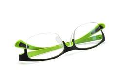 Γυαλιά που απομονώνονται πράσινα στο λευκό Στοκ Εικόνες