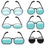 γυαλιά που τίθενται Στοκ εικόνες με δικαίωμα ελεύθερης χρήσης