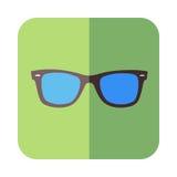 Γυαλιά στο επίπεδο σχέδιο απεικόνιση αποθεμάτων