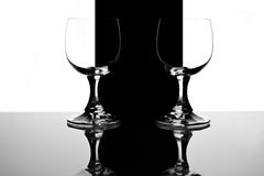 Γυαλιά στο Μαύρο και wite ένα υπόβαθρο Στοκ Εικόνες