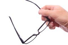 Γυαλιά στο χέρι Στοκ Εικόνα