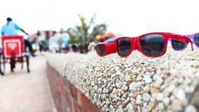 Γυαλιά στο beachfront Στοκ Εικόνες