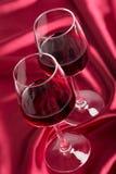 γυαλιά δύο κρασί Στοκ Εικόνα