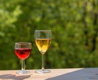 γυαλιά δύο κρασί Στοκ Φωτογραφία