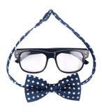 Γυαλιά Hipster και διαστιγμένο τόξο Στοκ Φωτογραφία
