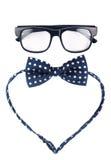 Γυαλιά Hipster και διαστιγμένο τόξο Στοκ φωτογραφία με δικαίωμα ελεύθερης χρήσης