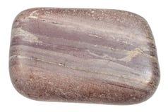 Γυαλισμένη πέτρα Argillite που απομονώνεται στο λευκό Στοκ εικόνες με δικαίωμα ελεύθερης χρήσης