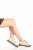 Γυμνά θηλυκά πόδια στις μπότες Στοκ φωτογραφίες με δικαίωμα ελεύθερης χρήσης