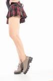 Γυμνά θηλυκά πόδια στις μπότες Στοκ εικόνες με δικαίωμα ελεύθερης χρήσης