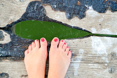 γυμνά πόδια Στοκ Εικόνα