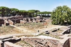 Γυμναστική και Ποσειδώνας Spa σε Ostia Antica - τη Ρώμη Στοκ εικόνα με δικαίωμα ελεύθερης χρήσης