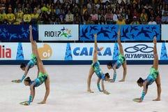 γυμναστική ρυθμική στοκ φωτογραφία με δικαίωμα ελεύθερης χρήσης
