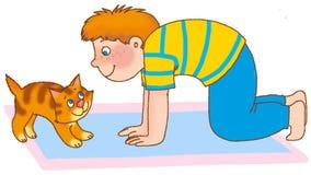γυμναστική s παιδιών διανυσματική απεικόνιση