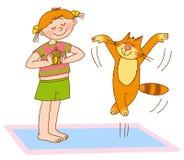 γυμναστική s παιδιών απεικόνιση αποθεμάτων