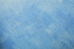 Γυμνό υπόβαθρο τοίχων ασβεστοκονιάματος, μπλε ταπετσαρία Στοκ Εικόνες
