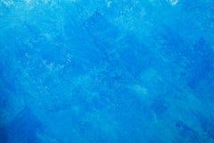 Γυμνό υπόβαθρο τοίχων ασβεστοκονιάματος, μπλε ταπετσαρία Στοκ εικόνες με δικαίωμα ελεύθερης χρήσης