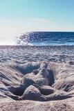 Γυναίκα 6 άμμου οριζόντων στοκ εικόνες