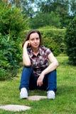 Γυναίκα άνοιξης/καλοκαιριού Στοκ εικόνες με δικαίωμα ελεύθερης χρήσης