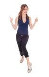 Γυναίκα άσκησης με το πλήγμα της επάνω Στοκ Φωτογραφίες