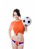γυναίκα ένωσης εσώρουχων ποδοσφαίρου γρύλων σφαιρών Στοκ Εικόνες