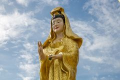 Γυναίκα αγαλμάτων στο ναό Wat Lamai, μουσείο λαογραφίας Koh Samui, Ταϊλάνδη στοκ εικόνες