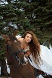 γυναίκα αλόγων Στοκ εικόνα με δικαίωμα ελεύθερης χρήσης