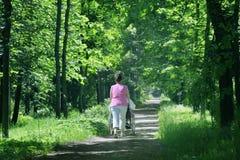 γυναίκα αναπηρικών καρεκλών Στοκ εικόνες με δικαίωμα ελεύθερης χρήσης