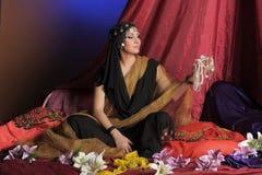γυναίκα ανατολικού πορτρέτου Στοκ φωτογραφία με δικαίωμα ελεύθερης χρήσης