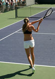 γυναίκα αντισφαίρισης στοκ φωτογραφίες