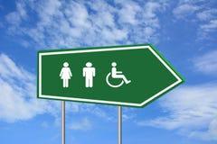 Γυναίκα ανδρών και σημάδι αναπηρίας Στοκ Εικόνες