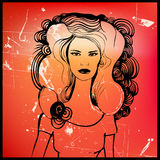 γυναίκα απεικόνισης Στοκ εικόνα με δικαίωμα ελεύθερης χρήσης