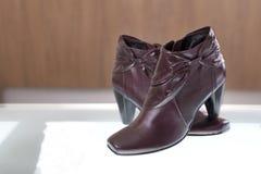 γυναίκα αποθεμάτων παπουτσιών φωτογραφιών Στοκ Εικόνες