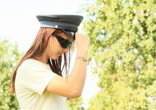 Γυναίκα αστυνομίας Στοκ Φωτογραφίες