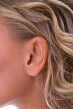 γυναίκα αυτιών Στοκ φωτογραφία με δικαίωμα ελεύθερης χρήσης