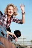 γυναίκα αυτοκινήτων στοκ εικόνες