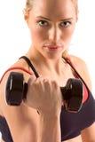 γυναίκα βάρους γυμναστ&iota Στοκ Εικόνες