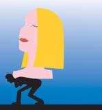 γυναίκα βάρους σχέσης αν&de Στοκ φωτογραφία με δικαίωμα ελεύθερης χρήσης