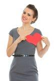 γυναίκα βαλεντίνων εγγράφου καρδιών φορεμάτων Στοκ φωτογραφίες με δικαίωμα ελεύθερης χρήσης