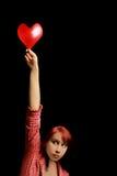γυναίκα βαλεντίνων καρδ&iota Στοκ φωτογραφία με δικαίωμα ελεύθερης χρήσης