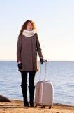 γυναίκα βαλιτσών Στοκ Εικόνα