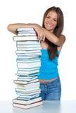 γυναίκα βιβλίων στοκ εικόνα με δικαίωμα ελεύθερης χρήσης