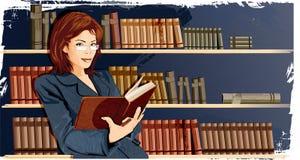γυναίκα βιβλιοθηκών Στοκ φωτογραφία με δικαίωμα ελεύθερης χρήσης